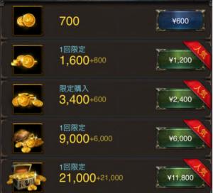 購入したいアイテムを選択