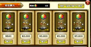 購入したい忍石を選択